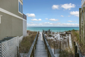 Beach Access View from Lot 4 Chivas 30-A Gulf View Half-Acre Lot for Sale Santa Rosa Beach Florida